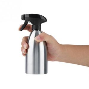 Sprayer de aceite de oliva de acero inoxidable botella de vinagre vacío Dispensador de aceite para cocinar ensalada Bbq Hornear herramienta de cocina Q190605