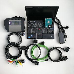 자동차 수리 진단 도구 automotivo 스캐너 OBD2 MB 별 C4 SD 소형 C4 + 노트북 X201 I7 8G + 새 320기가바이트 HDD 최신 소프트웨어 V09.2020을 사용