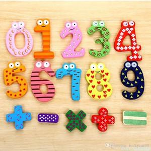 행운의 냉장고 자석 스티커 장난감 지적 개발 W / 번호 패턴 0 ~ 9 개 블록