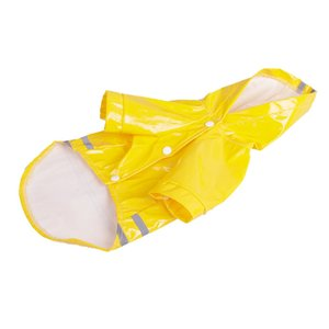 S-XL Summer Dog Rain Coat Outdoor Puppy Hood Waterproof Jacket Apparel PU Raincoat For Shih Tzu Solid Clothes Dog Apparel