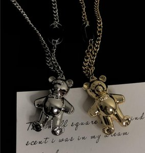 Europe and the United States new hot high quality cartoon cute bear fashion clavicle chain wild simple accessories alloy necklace