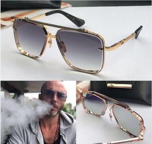 Las nuevas gafas de sol de lujo para hombres diseñan gafas de sol vintage de estilo de moda sin lentes cuadradas UV 400 con estuche original