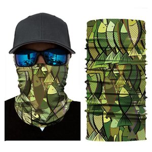 3D Printed Animal Pattern Mask Men Women Designer Quick Drying Sunscreen Breathable Multifunctional Outdoor Riding Magic Headband