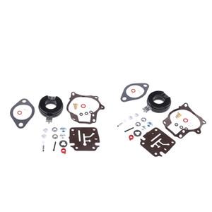 2x Bateau Motor-Claircule Carbuetteur Kit de réparation de carburateur Diaphragme pour Johnson Evinrude 20 30 40 50HP Moteur hors-bord