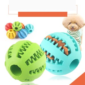 Pets Toy Rubber Chew Ball Dog Cat Training Toys Leakage Food Toothbrush Chews Balls For Pets Tooth Healthy