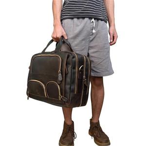 Desinger Deri Laptop Çanta 18''inch Dizüstü Evrak Erkek El Çantası Seyahat