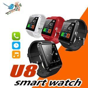 Smartwatch U8 Bluetooth Smart Watch Touch Wrist WristWatch para iPhone IOS Android Smart Phone Wear Reloj Dispositivo portátil Smartwach