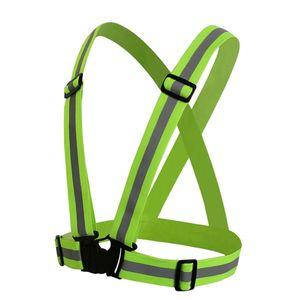 Унисекс безопасности высокой видимости Отражение Vest Открытый Running Jacket Велоспорт Vest Harness Светоотражающие ремень безопасности для взрослых детей DHL бесплатно