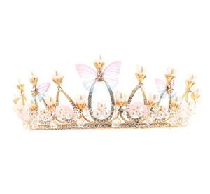 Детский Корона Головной Убор Принцесса Девушка Корона Кристалл Украшение Для Волос София Девочки День Рождения Алмазный Набор Обруч