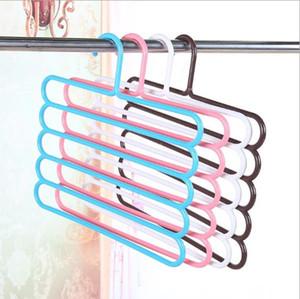 antiderrapantes calças coloridas multi-camada de rack guarda-roupa para receber multi-funcional magia cabide laço lenço cabide de plástico sem emenda 222