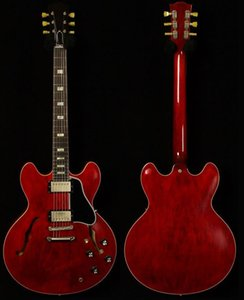 Jazz Chitarra elettrica, Chitarra di qualità, Aspetto invecchiato, Semi Hollow Body Win Red
