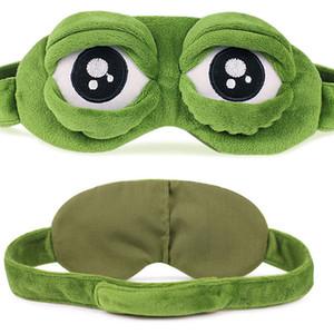 Komik Karikatür Uyku Yumuşak Çocuk Yetişkinler İçin Sevimli Kurbağa Hayvan Göz Kapağı Süper Yumuşak Göz Gözbağı Sleeping Hale Getir Maske