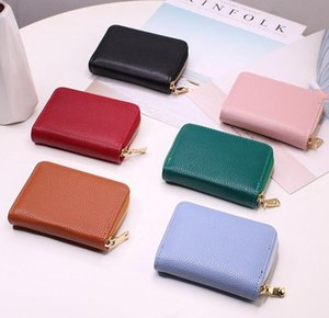 brand fashion designer women pu short wallets clutch bag 6 colors small cute zipper purse Card Product vwallet 26 card slots