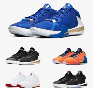 Giannis Antetokounmpo Yakınlaştırma Freak 1 FIBA Yunanistan Portakal Amerika İmza Basketbol Ayakkabıları Spor Tasarımcı Sneakers Boyutu 40-46 geliyor