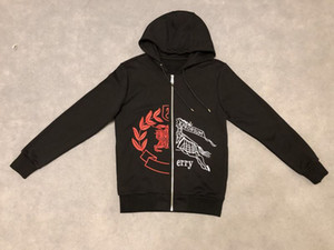 19ss Herren Designer Hoodies Pullover Sweatshirts Kriegspferd Buchstaben Stickerei neue Label Crew Neck Kleidung