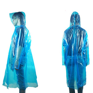 One-Time Emergency Waterproof Cloth Rainwear Raincoat Unisex Travel Camping Rain Coats Color Random Portable Disposable Poncho