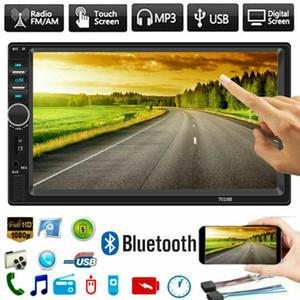 2 DIN автомобиль стерео 7 HD автомобиль радиоавтобусы Bluetooth FM Audio MP5 Player 2Din Autoradio поддерживает камеру заднего вида заднего вида 7018B радио автомобиль