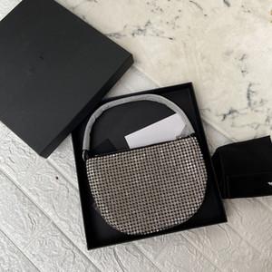 même style sac de trampy de diamant de diamant dame avec le sac et le sac demi-cercle axillaire portable lune