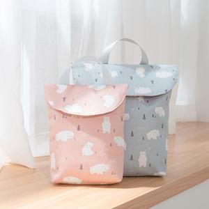 아기 유아 천 재사용 여행 야외 VT0275에 대한 아기 기저귀 가방 기저귀 파우치 신생아 미니 방수 웻 드라이 가방