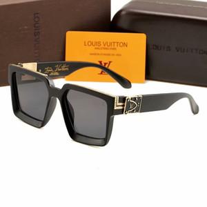 2019 Luxus MILLIONAIRE M96006WN Sonnenbrillen Vollformat Vintage Designer Sonnenbrillen für Herren Shiny Gold Logo Heißer Verkauf Vergoldetes Top
