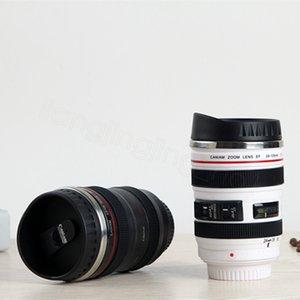 400ml Kamera Lens Cup Coffee Mug Paslanmaz Çelik Liner Çay Kupası Tumbler Seyahat Mug SLR Lens Şişe Yenilik Hediyeler parti lehine FFA3425