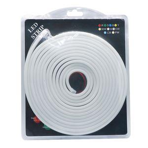 Umlight1688 6 * 12mm LED Aydınlatma Flex LED Neon Işık SMD 2835 120 leds / M renk yüzey elbise LED Şerit halat Işık Su Geçirmez 5 m ile paketi
