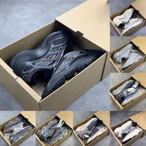 Com Box 700 estática azul Teal V3 Alvah Azael Brilho In Dark Kanye West Running Shoes reflexivo preto Oreo das mulheres dos homens Sports Sneakers