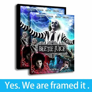 HD Canvas Print Porch Decorative Poster Painting Beetlejuice Schild Art Framed Art - Ready To Hang - Support Customization