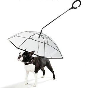 Transparente Guarda-Chuva C Estilo Ajustável andar a trela do Gog em dias chuvosos Cão Ao Ar Livre Trela Pet Suprimentos HA320