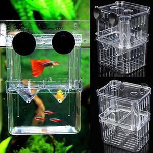 Aquarium Pisciculture Box Animaux Fish Tank Guppy Double élevage éleveur d'élevage couvoir Splits Fish Tank tortue reptile Maison Promotion