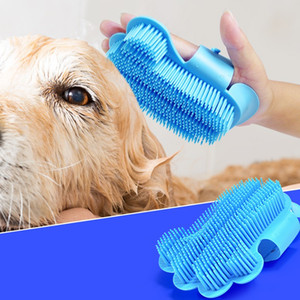 Pet Ванна Душ Массажер Мягкая щетка Регулируемая собака ванны перчатки Удобные сенсорный Чистые инструменты 3 5mC UU