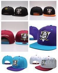 A buon mercato all'ingrosso più recente Mighty Hockey Ossa Snapback Hats Anaheim Ducks cap osso uomini piani di modo nhl cappelli di sport delle donne economici berretti da baseball