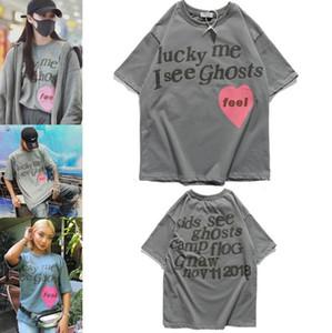A camisa dos homens Sorte minha que eu vejo os fantasmas T-shirt do verão respirável solta t-shirt para homens e mulheres casal Designer Hip Hop Streetwear Tees