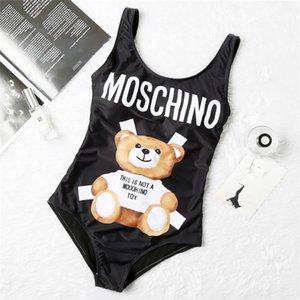 las mujeres s de la ropa de 2 pedazos vendaje de las mujeres señora Bikini Set push-up Sujetador 2 pedazos de las mujeres Trajes de baño Moschino