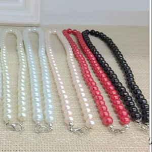 8MM Necklace Pearl Chokers Necklaces 17 inch Imitation Pearl Bead Nacklace For Women Girl Fashion Jewlery Wholesale