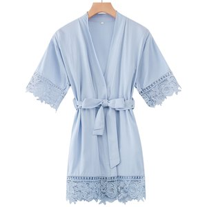 Owiter Rayon Cotton Robe with Lace Robe Wedding Flower Girl Robes Kids Robes Child Pajamas Nightgown Dressing Sleepwear
