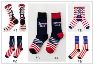American flag Trump Sportstrümpfe 12 Paare / bag Trump Flag Maple gedruckt gestreiften Socken Baumwollsocken bequeme Strumpfwaren für Sport A07