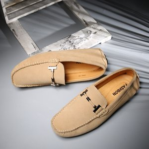 Men Shoes Casual Leather Loafers Genuine Leather Men Moccasins Handmade Stitching Soft-Sole Drivers Shoes Zapatos Hombre