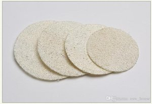 Round Natural Loofah Pad 5.5cm 6cm 7cm 8cm Makeup Remove Exfoliating and Dead Skin Bath Shower Loofah