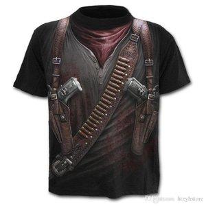 ht New t shirt men 2018 new Fashion Battle Printed Fashionable Round Neck T-shirts Men's short sleeve T-shirt tops