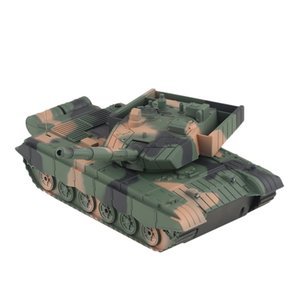 01.20 RC Behälter-Spielzeug-Militärfahrzeug 4CH Fernbedienung Panzer Tank Battle Tanks Turret Rotation Light Music RC Modell Kinder Spielzeug