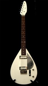 Nuovo Rare Hutchins Brian Jones chitarra VOX Bianco 21 tasti 2 Single Coil Pickups Chrome Hardware Factory Outlet