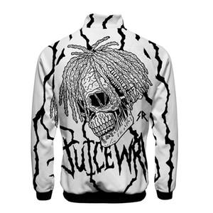 Moda Rapper Juice wrld Jacket Mens Stand di Design collare cappotti Plus Size Giacca manica lunga baseball