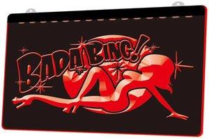 Ls1013 0 Bada Bing nude sexy esotico della ragazza Rgb multipla colori telecomando 3d segno dell'incisione ha condotto la luce al neon del negozio Bar Pub Club
