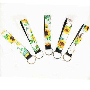22 disegni Catena Wristband Portachiavi stampata floreale chiave del neoprene Portachiavi cinturino dell'orologio portachiavi favore di partito DHF116
