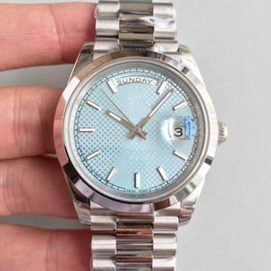 Top sale classic 2813 automatic movement 40MM ice blue dial sapphire mens watch 228206 Date 316L Stainless steel strap wristwatch