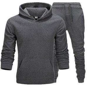 سوياتشيرتس رياضية الملابس الداخلية الحرارية الرجال بدلة رياضية الصوف السميك ذو قلنسوة الرياضة سروال البدلة الرجال أكثر من الحجم