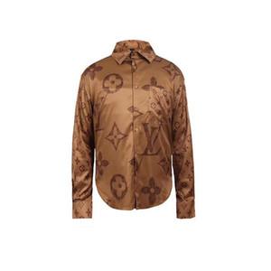 2020 New Autumn Mens Shirts Regular Fit Unique Dress Flower Slim Fit Male Casual Long Sleeve Shirt Men Fashion