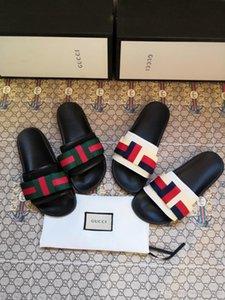 2020 Новые тапочки сандалии Конструктор Слайды Лучшее качество Дизайнерская обувь, стильный, удобный, легкий