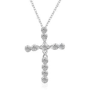 10шт горячие продажи мода кристалл крест кулон ожерелье европейская и американская популярная религия женские аксессуары T-179